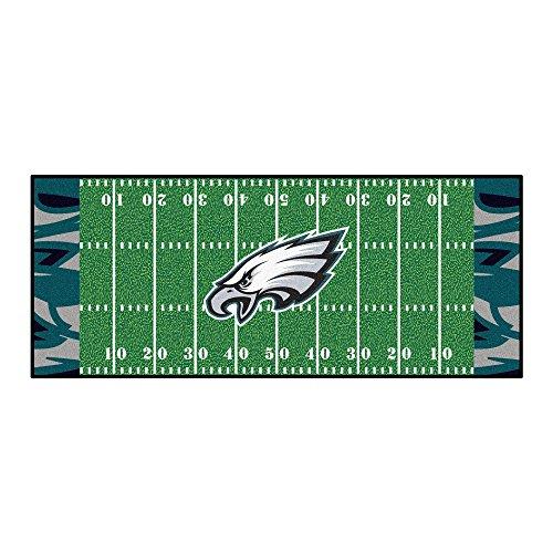 FANMATS NFL Philadelphia Eagles NFL-Philadelphia Eaglesfootball Field Runner, Team Color, One Size
