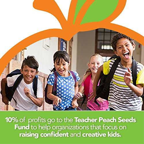 Teacher Peach Inspirational Teacher Tote Bag with Pockets, Utility Teacher Bag with Compartments & Organizers