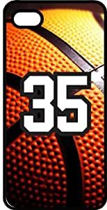 Basketball Sports Fan Player Number 35 Black Plastic Decorative iPhone 6 Case