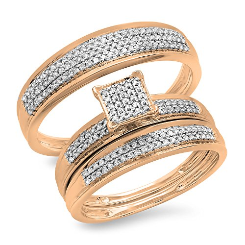 Dazzling Rock 0.50 Carat (ctw) 10k Rose Gold Round Diamon...