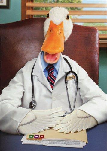 Amazon Duck Doctor Avanti Funny Birthday Card Office Products