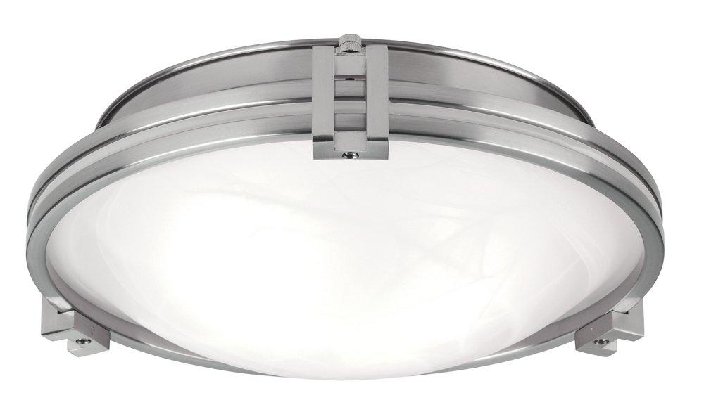 Possini euro deco 12 3 4 wide brushed nickel ceiling light ceiling pendant fixtures amazon com