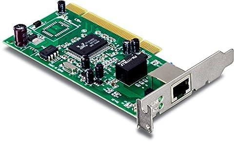 TRENDnet 32-bit 10/100/1000 Mbps Gigabit Low Profile PCI Adapter, Up to 2000Mbps Speed in Full-Duplex, Built-in FIFO (8K/64K) Buffers, (Gigabit Pci Network Adapter)
