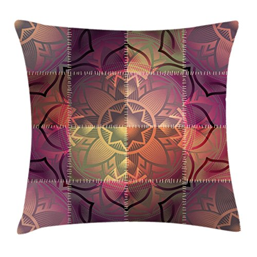 Pattern of Mandala Motif in Ombre Paisley  Patchwork Like Artwork