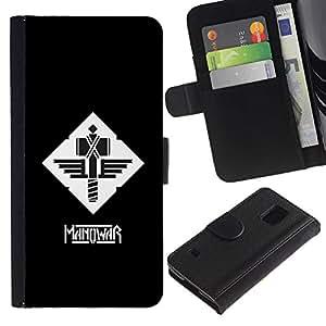 EJOY---Tirón de la caja Cartera de cuero con ranuras para tarjetas / Samsung Galaxy S5 V SM-G900 / --MANOWAR