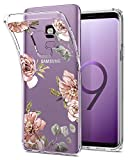 Spigen Liquid Crystal Galaxy S9 Case Light but Durable Flexible Clear TPU Protection Samsung Galaxy S9 (2018) - Blossom Flower