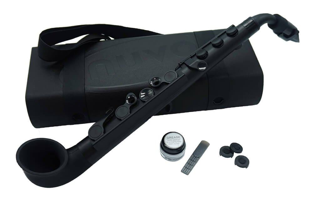 Nuvo jSax Plastic Saxophone Black Body with Black Keys