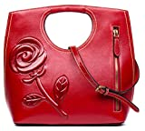 Malirona Top Handle Satchel Handbags Classy Tote Carry Purse Women (Red)