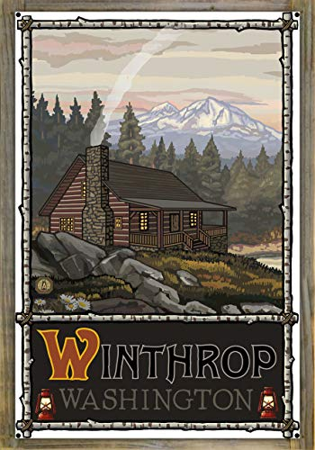 - Northwest Art Mall Winthrop Washington Metal Print on Reclaimed Barn Wood by Paul A. Lanquist (24