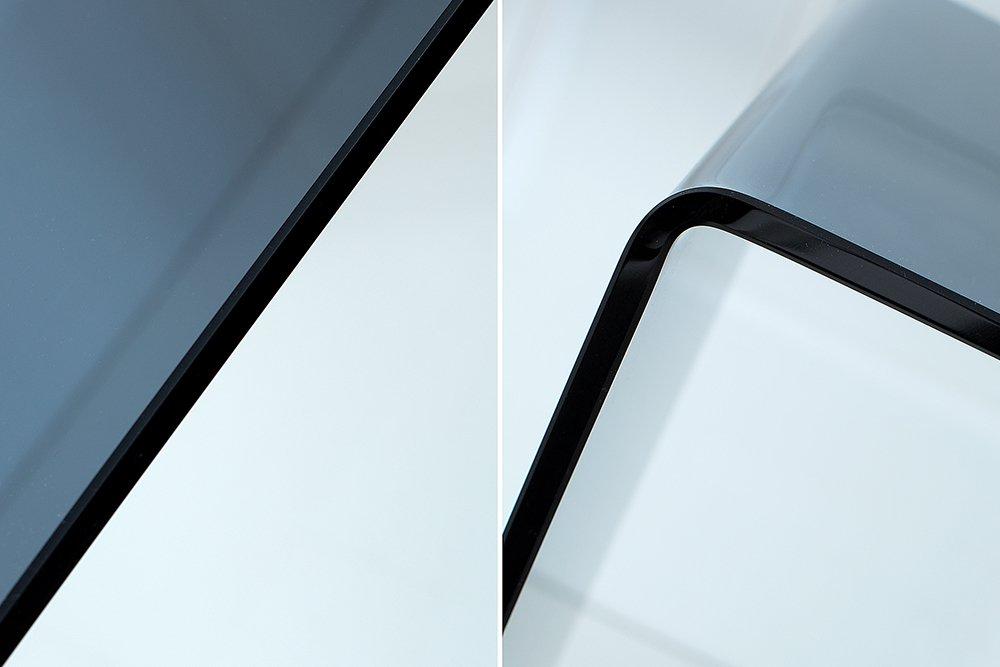 Riess Ambiente Extravaganter Glas Konsolentisch FANTOME 100cm rauchglas anthrazit Schreibtisch Ganzglastisch