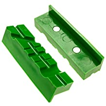 Vise Jaws/Vise Pads (Magnetic Multi-Groove Soft Jaws) - 4.5 Inch Length, TPU Jaw Covers - Fit Wide Array of Vises/Vices and Vise Blocks