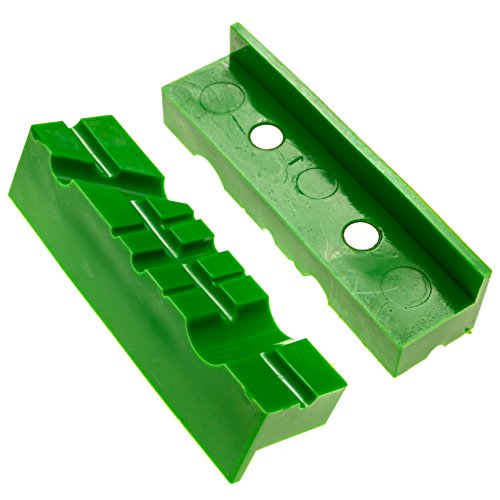 Vise Pads / Vise Jaws Pads (Magnetic Multi-Groove Design) - 4.5 Inch Length, TPU - Fit Wide Array of - Vise Pads