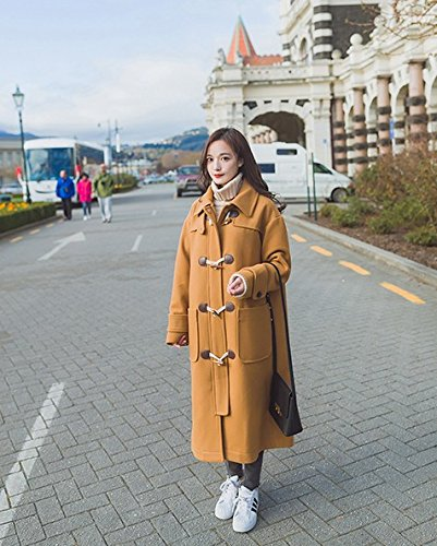 Of Winter And Autumn Woolen Coat In Trumpet The Coat Long Thickening Section Horns Xuanku Camel Loose wzE5zq