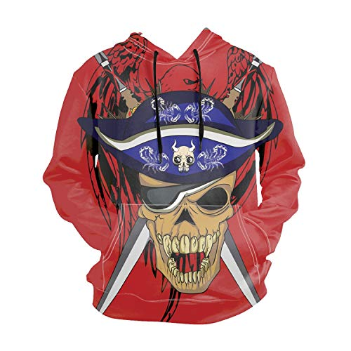 Ranhkdn Eagle Sword Skull Long Sleeve Solid Color Hooded, used for sale  Delivered anywhere in Canada