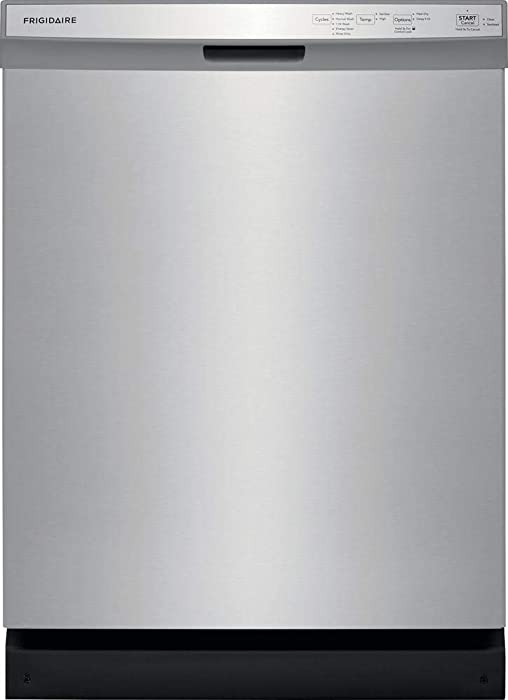 Frigidaire FFCD2418US 24 Inch Built In Full Console Dishwasher with 5 Wash Cycles, 14 Place Settings, in Stainless Steel