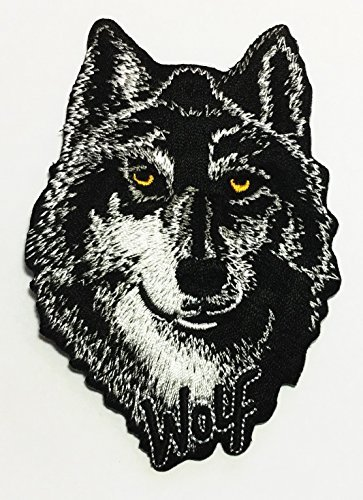 - Realistic Wolf Embroidered Sew Iron on Patch p#106