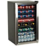 EdgeStar BWC120SS 103 Can and 5 Bottle Extreme Cool Beverage Cooler - Stainless Steel
