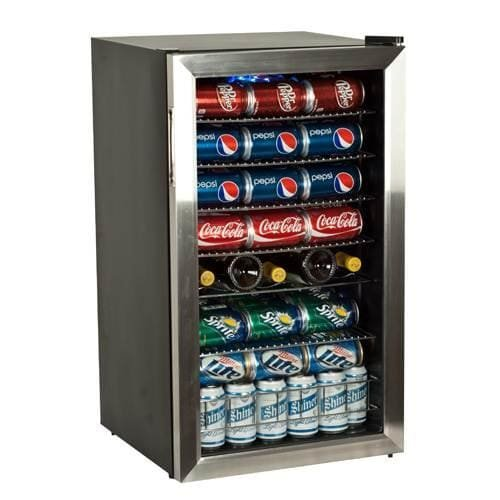 EdgeStar BWC120SS 103 Can and 5 Bottle Extreme Cool Beverage Cooler - Stainless Steel (Freestanding Mid Range)