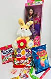 Happy DIY Easter Birthday Baskets Kids Girls Boys Girl Toddlers Gift Egg Toddler Gifts Themed Set Artificial Grass Decorations Toys Stuffers Bag Package Party Favors Colors May Vary Bunny & Doll
