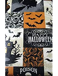 Halloween Table Cloth elegant halloween wedding inspiration Haunted Halloween Flannel Back Vinyl Tablecloth By Elrene Assorted Sizes Up To 120 Inches Oblong And Round 52 X 70 Oblong