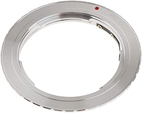 Silver perfk Adapter Ring for Pentax PK K-mount Lens to Canon EOS ...