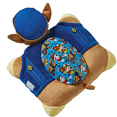 Pillow Pets Nickelodeon Paw Patrol Sleeptime Lites – Chase Plush Night Light: Toys & Games