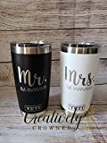 Laser Engraved Mr. and Mrs. YETI Tumbler Set - Personalized Gift For the Newlyweds