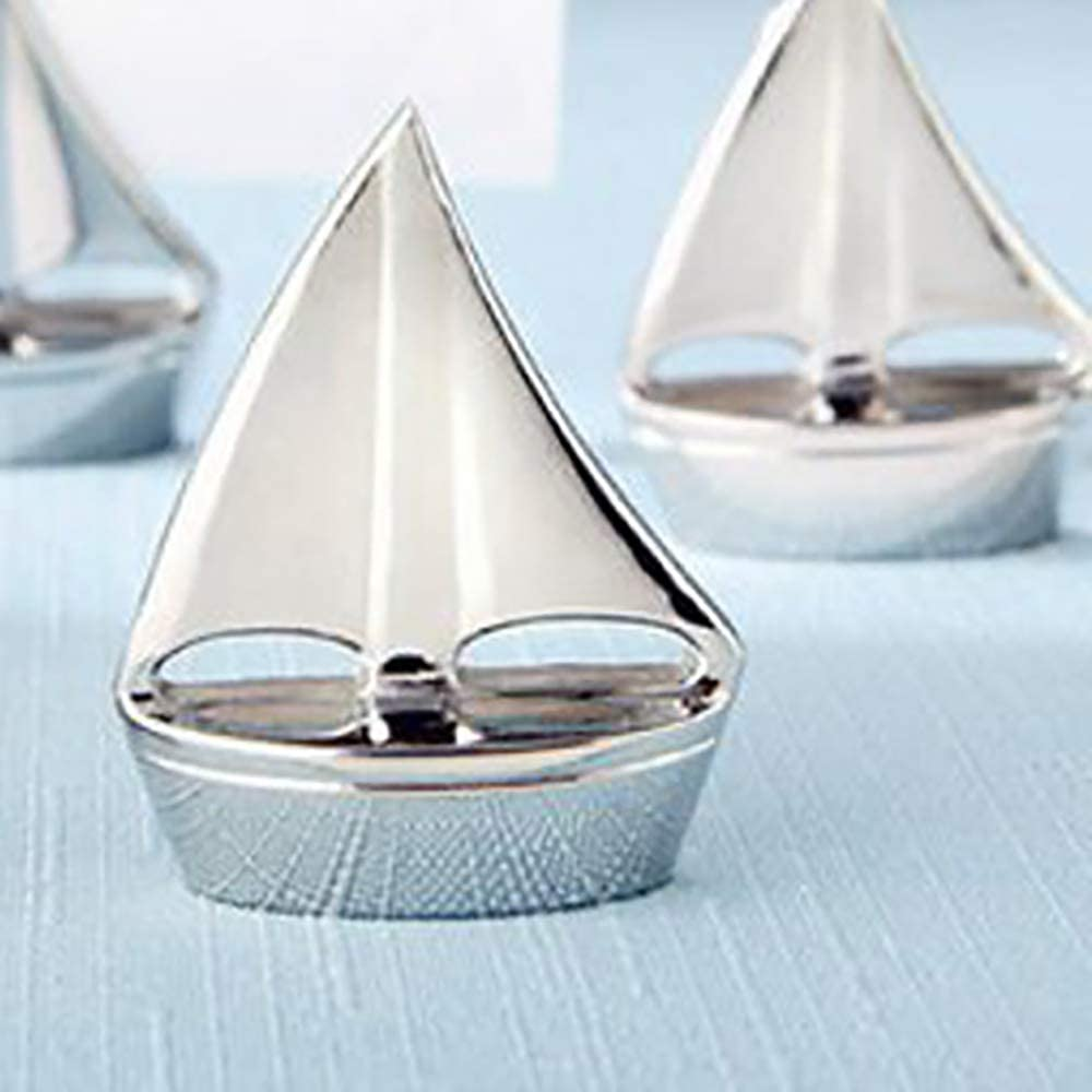 12pcs Hollow Sailboat Shape Photo Clip Wedding Table Name Holder Memo Note Clip Holder Photo Stands for Display