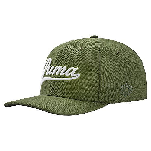Puma gorra confeccionada para hombres Headwear-Forest Night / Puma White-Large / Extra Large