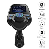 zorvo FM Transmitter, Otium Bluetooth Wireless Radio Adapter Audio Receiver Stereo Music Modulator Car Kit with USB Charger, Hands Free Calling