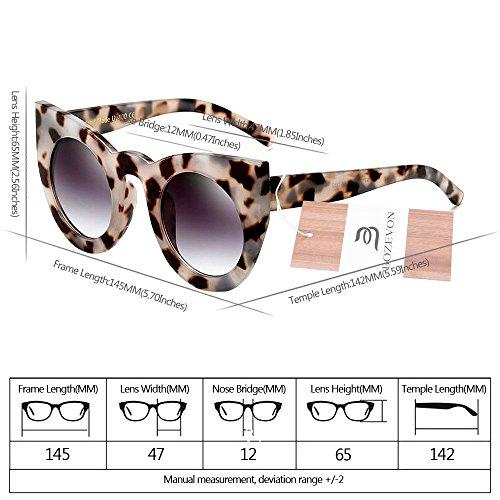 Color del la Gris Gradiente del Gafas sol Mujeres Lindas BOZEVON de Gafas Tortoiseshell la Estilo Gato de del de Lente Partido de Retras de Manera las gris de Lentes ojo del cBvyf4yq