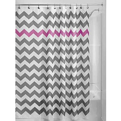 1 Piece Grey Purple Chevron Pattern Shower Curtain 72quotx72quot Beautiful Horizontal Zigzag
