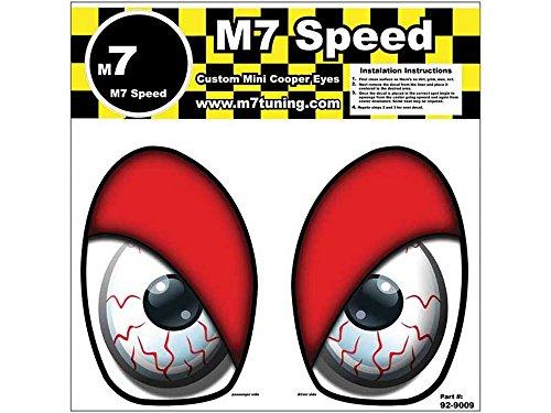 M7 Speed Underhood Eye Decal Set | Bloodshot | Red Lids |R50-R53 - MINI Cooper