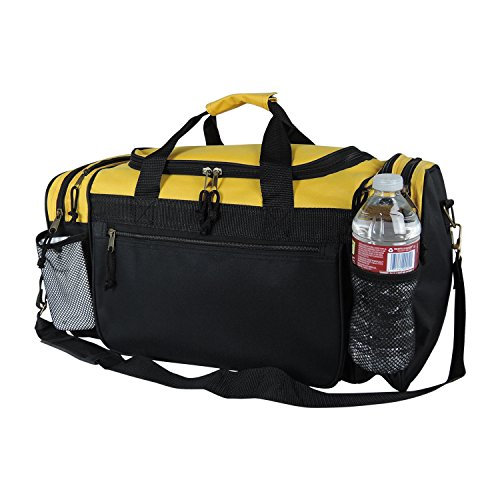 (Dalix 20 Inch Sports Duffle Bag with Mesh and Valuables Pockets,)
