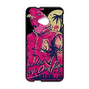 HTC One M7 Cell Phone Case Black Hotline Miami 2 Wrong Number 5 H2C1TC