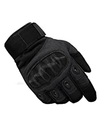 TACVASEN Mens Tactical Hard Knuckle Gloves Full Finger Miliatry Army Shooting Gloves