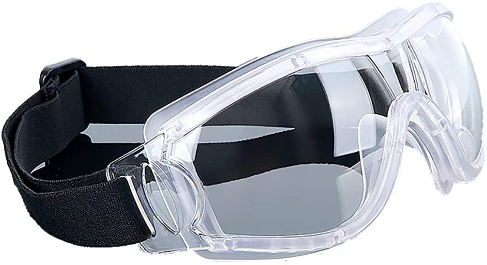 Bravo Simple Stylish Clear Lens Goggles Adjustable Elastic-band Wind Resistance | size S