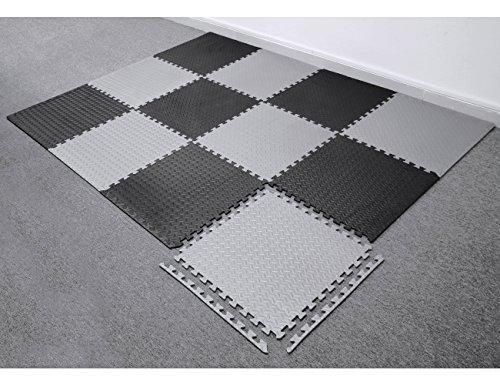 3859ed0c026f5 innhom 24 Tiles, 93 SQ. FT Gym Mat Puzzle Exercise Mats Gym Flooring Mat  Interlocking Foam Mats with EVA Foam Floor Tiles for Gym Equipment  Workouts, ...