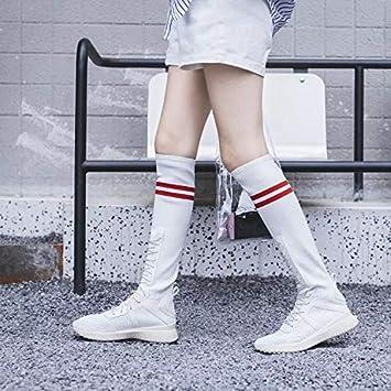 HOESCZS Calzado De Mujer Calzado Deportivo Calzado Transpirable Calcetines Elásticos Calzado De Mujer Botas Zapatos Altos