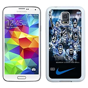 New NCAA Sun Belt Conference Football Georgia State Panthers 3 Logo Cell Phone Hardshell Cover Case for Galaxy S5 S 5 SV S V i9600 White