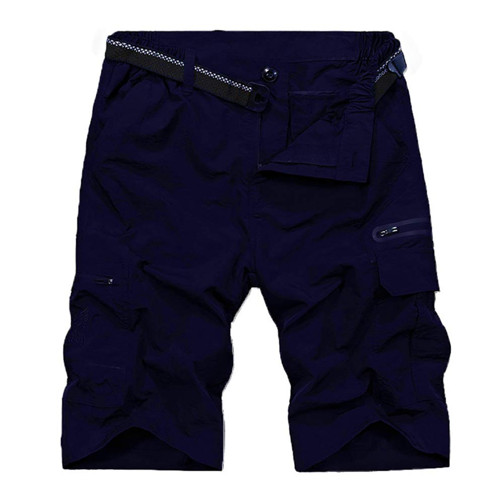 Men's Outdoor Tactical Shorts Lightweight Expandable Waist Cargo Shorts with Multi Pockets Quick Dry Water Resistant,6222,Navy, US 28 by Toomett