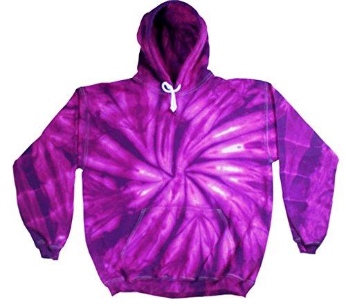 Buy Cool Shirts Kids Tie Dye Pullover Spider Purple Hoodie 10-12
