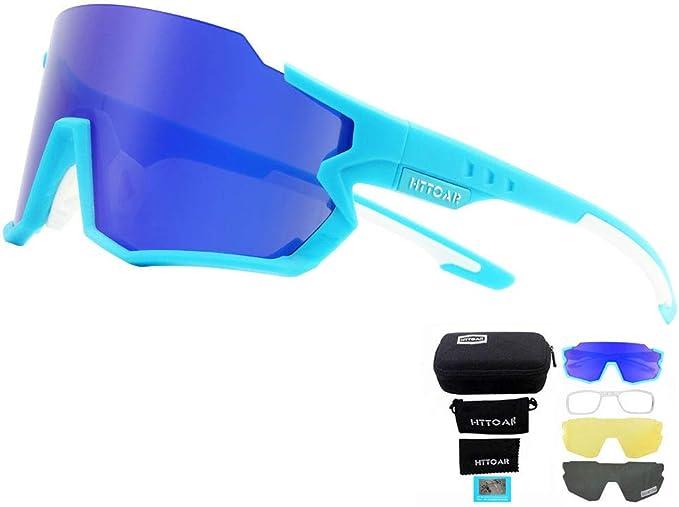 HTTOAR Gafas de sol deportivas polarizadas Ciclismo para hombres y mujeres Correr Pesca Golf TR90 Marco Protección UV400 (Azul): Amazon.es: Deportes y aire libre