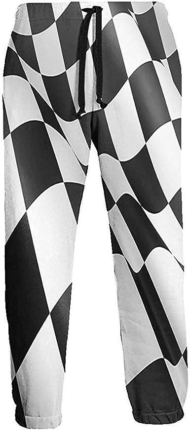 Pantalones de chándal de Cuadros Escoceses ondulados a Rayas ...