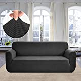 Rose Home Fashion RHF Jacquard-Stretch Sofa Cover, Slipcover for Leather Couch-Polyester Spandex Sofa
