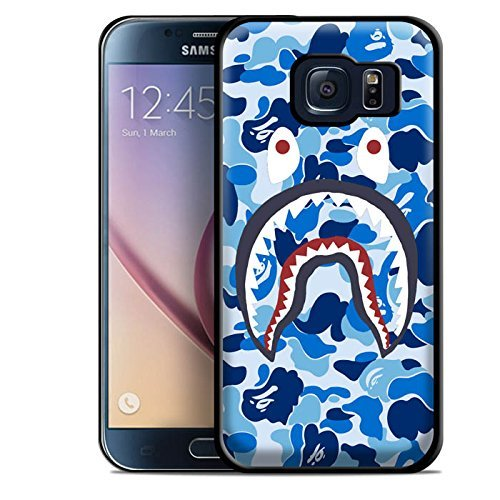 A Bathing Ape Blue Shark for Iphone and Samsung Galaxy Case (Samsung (Mobile Edge 13 Camo)