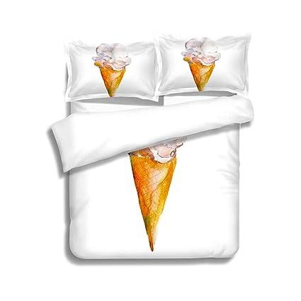 Amazon Com Mtsjtliangwan Duvet Cover Set Vanilla Ice Cream
