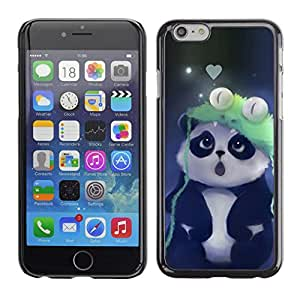 // PHONE CASE GIFT // Duro Estuche protector PC Cáscara Plástico Carcasa Funda Hard Protective Case for iPhone 6 / Cute Panda /