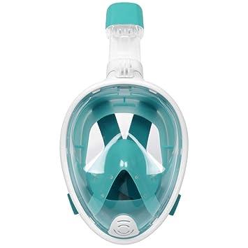 XSWZAQ-qs Máscara de Snorkel de Rostro Completo, máscara de ...
