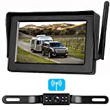 ZSMJ Digital Wireless Backup Camera Kit, Stable Signal Reverse Camera Kit with Super Night Vision, IP68 Waterproof Rear View Camera 4.3'' LCD Monitor for Trucks/RV/Vans/Trailer Over 660ft Transmission